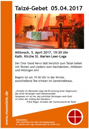 good news taize gebet plakat 2017 04 05